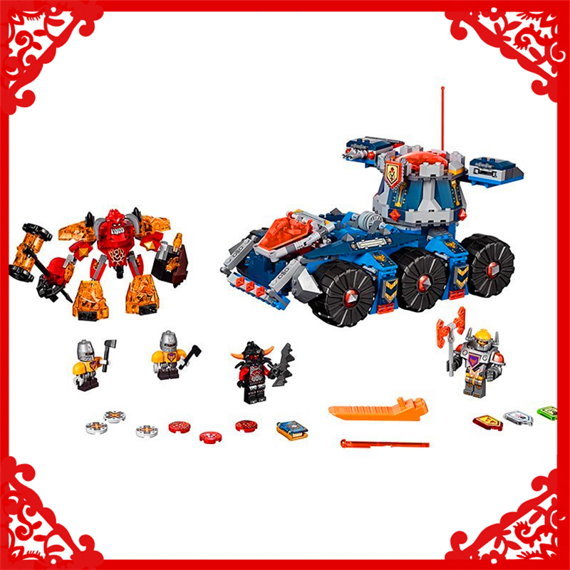 LEPIN 14022 Nexo Knights Axl Axls Tower Carrier 704Pcs Building Block Educational  Toys For Children Compatible Legoe<br>