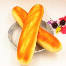 French Baguettes Kawaii Squishy Rising Jumbo Phone Straps Cute Squeeze Stress Kids Gift Pillow Loaf Cake Bread Toy
