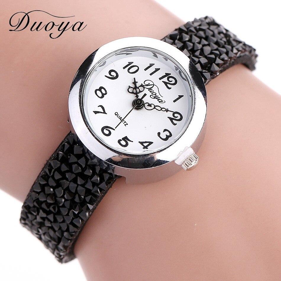 DUOYA 2016 Hot Sale Women Luxury Crystal Bracelet Quartz Wristwatch Ladies Casual Dress Rhinestone Watches Vintage Watch Relogio<br><br>Aliexpress