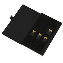 High Quality Monolayer Aluminum 1SD+ 8TF Micro SD Memory Cards Case Pin Storage Box Case Holder