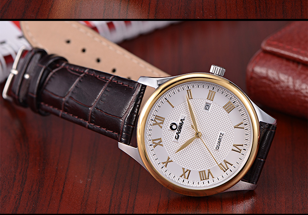 ساعة يد رجالية جلد 12