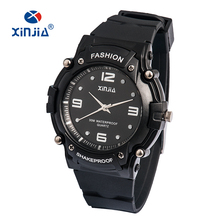 2016 XINJIA Brand Popular Japan Movement Men Quartz Watch Dive Running 30M Fashion Outdoor Sport Wristwatches For Swimming Diver