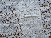 SALE Cotton Fabric Lace Vintage Venice Lace Trim for Altered Couture, Costume, Home Decor