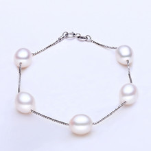 Buy RUNZHUQIYUAN 2017 100% natural freshwater pearl Bracelet Charm Bracelet 925 Sterling Silver jewelry best gifts wedding jewelry for $8.65 in AliExpress store