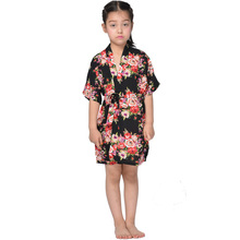 2016 Summer Floral Cotton Robes Flower Girl Party Clothes Kimono For Little Women Children Nightgown Casual Sleepwear Breathable