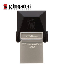 Kingston OTG Mini USB 3.0 USB Flash Drive 64GB 32GB 16GB 128GB Pen Drive Disk Smartphone Tablet 2 in 1 Pendrive Memoria Stick