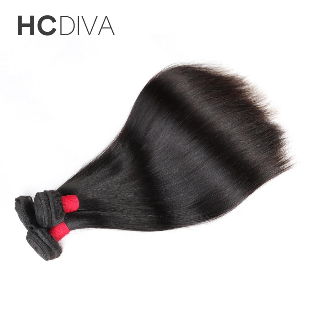 [ HCDIVA ] 1 Piece Peruvian Virgin Hair Weaving Straight Human Hair Weft Bundles 12″- 28″ Free Shipping Unprocessed Virgin Hair