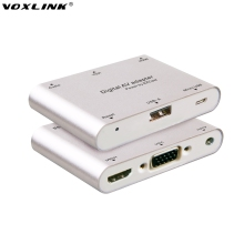 VOXLINK Digital AV Adapter USB to HDMI / VGA+Audio Dual Display Converter Adapter for IOS Android Smartphone Ipad Window MacBook