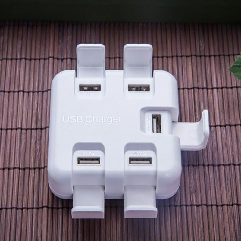 USB Charger Station Cell Phones Stand Charger HUB EU Plug 5 Ports USB Input Voltage 220V Output Voltage 5V 1A (1)