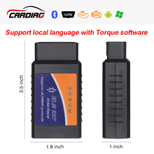 2017 ELM 327 Bluetooth V2.1 Interface Work On Android Torque Elm327 Bluetooth OBD2/OBD II bluetooth Car Diagnostic-tool(China)