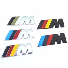 Car Decoration Emblem Badge M Logo Metal 3D Car Sticker for BMW M3 M5 X1 X3 X5 X6 E36 E39 E46 E30 E60 E92 All Model