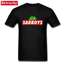 Custom Designer Sad Boys Pepe Frog Meme Tee Young Guy Short Sleeves Round Neck Cotton  P.E.P.E T-Shirts Men Latest Fashion Trend