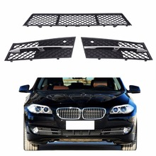 1Set Front Bumper Center Grille Partly Closed Grille For BMW F10 F11 F18 2009 2010 2012 2013 C/5