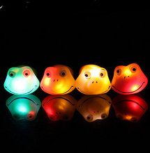 Halloween Christmas LED Ring New Creative Cartoon Frog Luminous Ring Lovely Flash Fluorescent Ring Toy Mixed YH221(China)