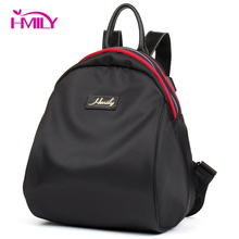 HMILY Women Bag Waterproof Oxford Women Backpack Black Color Female Bag Daily Leisure Ladies Daypack Trendy Shoulder Bag