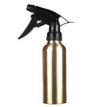 200ml Hair Salon Pro Hairdressing Sprayer Atomiser Refillable Bottle Gold Aluminum Water Spray Empty Bottle Barber Styling Tools(China)
