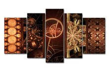 5 Piece Wall Art Painting Fractal Designs Prints On Canvas The Picture Abstract Pictures Oil Print Decor For Kids Room(China)