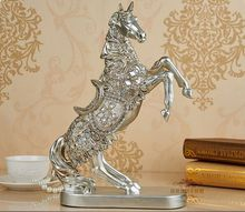 resin Europe Retro handsome raising-up horse artcraft 37x26cm ornaments,furnishings office desk decoration birthday gift a2407