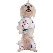 Pets Pajama Cute Cartoon Airplane Printing Jumpsuits Pets Dog Cat Puppy Romper Sleeping Clothes Soft Cozy Warm(China)