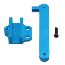 Mxfans 5.3 x 2.2 x 0.9cm Blue Aluminum Alloy Upgrade Parts Steering Servo Saver Complete for WL 12428 12423 RC1:12 Off Road Car(China)