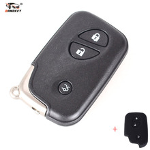 DANDKEY Silicon Cover Case + Replacement Smart Key Card For Lexus GS430 GS300 IS350 IS250 3 Button Remote Control With Logo