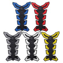 3D Rubber Tank Pad Protector Gas Fuel Decal Sticker For Motorcycle ATV Vehicles Blue/Red/Black/White/Yellow