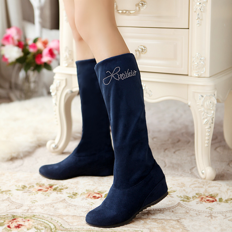 Big size 34-47 boots A pair of shoes to wear two  style thigh high women  femininas ankle boots zapatos mujer chauss Q6-3<br>