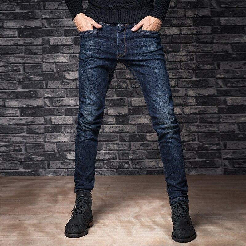 Autumn elastic jeans male straight slim long trousers male autumn and winter male jeans skinny pants Îäåæäà è àêñåññóàðû<br><br>