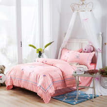 Svetanya mushroom Embroidered Luxury Bedding Sets Queen King Size Bedclothes 100% Cotton Brand Duvet Cover Set