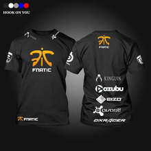 Free shipping CSGO LOL Champion Game Team Fnatic T Shirt O Neck cotton casual Tees steelseries Game Athletics T-Shirt(China)
