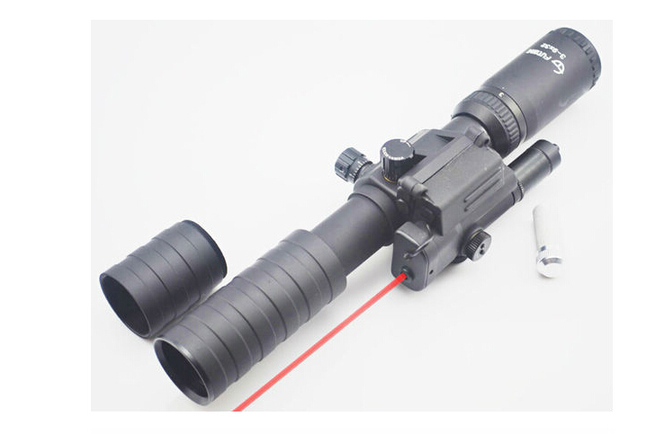 oxota Riflescope 3-9X32E New-style W/ Red Laser Sight Airsoft Rifle Scope Hunting Laser Scope air soft<br><br>Aliexpress
