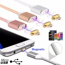 2.4 Magnetic Micro Usb Data Charging Cable Android Mobile Phone Charger+Power Home Wall Charger Adapter(China)