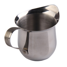 LS4G New Stainless Steel Coffee Shop Small Milk Cream Waist Shape Cup Jug 3OZ Free Shipping