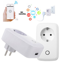 Universal EU Plug Phone Contros Smart Wifi Switch Intelligent Wireless Remote Control Timer Smart Power Socket For Cell Phone