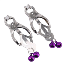 Buy Fetish Metal Sexy Nipple Clamps 2 Bells Bondage Clips Slave Adult Games