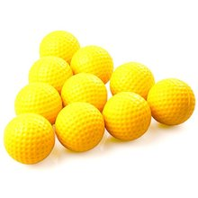 New 30pcs Yellow PU Foam Golf Balls Sponge Elastic Indoor Outdoor Practice Training