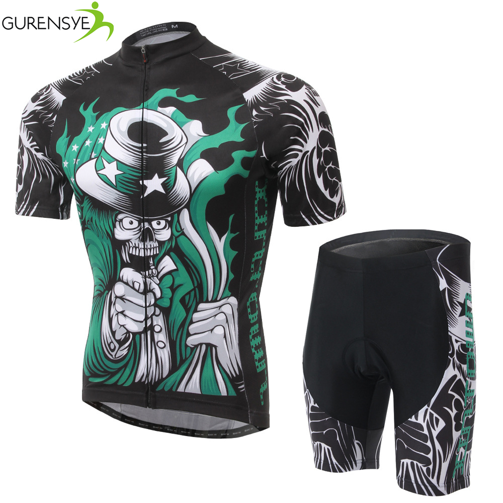 SKULL style Breathable Cycling Jersey Bike Bicycle Clothing Short Sleeve jersey  S-3XL/Cycling Clothing /ropa ciclismo hombre<br><br>Aliexpress