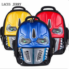 LACUS JERRY 2017 New Personality Eyes Will Light Waterproof 3D Stereoscopic Transformers Schoolbag Children Backpack Burden