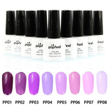 Promotion 8pcs/lot 8 colors optional pink series fashion nail glue color painted printing Draw flower nail polish Nail supplies(China)