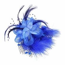 1PC Fashion Women Mesh Feather Beads Side Hair Clip Fascinator Wedding Bridal Headpiece Headress(China)