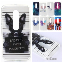 Cartoon Glossy Soft TPU IMD Silicon Dog painted phone case sfor Motorola Moto G3 XT1561 XT1543 XT1540 Back Cover skin shell