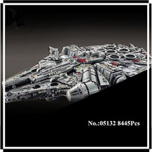 IN STOCK 05132 8445Pcs Star Series Wars Ultimate Collector's Model Destroyer LEPIN Building Bricks Children Toys 75192(China)