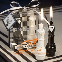Chess King and Queen Candles,wedding Candles Romantic Candle Valentine Gift,party Gifts Wedding Accessories D-1942