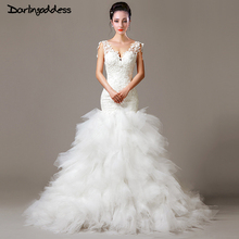 Buy Wedding Dress 2017 Sexy Backless Mermaid Wedding Dresses Lace V Neck Cheap Vintage Bride Dresses Robe De Mariage Real Photos for $137.28 in AliExpress store