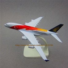 16cm   Air Singapore Airlines 50th Anniversary Airbus 380 A380 Plane Model Aircraft Airways Airplane Model w Stand