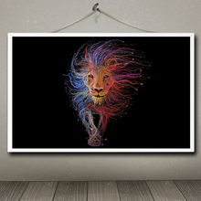 Cute Animals Series Art Silk Fabric Poster Print Lion Painting Wall Home Decor 12x19 15x24 19x30 22x35 Inches Free Shipping