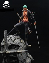 MODEL FANS IN-STOCK one piece 35cm Roronoa Zoro gk resin statue figure for collection