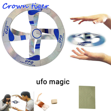 magic ufo toy Mystery Mid Air UFO Floating Fly Saucer ufo Magic trick Magician Trick Props Show Tool flying magic ufo Toy Kids(China)