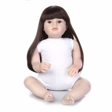 doll model children play house toys gift Large size 70CM reborn  kit/silicone reborn dolls Clothing
