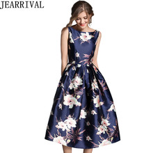 Buy Vintage Floral Summer Dress 2018 New Fashion Women's Sleeveless Ball Gown Casual Office Party Dresses Midi Vestido De Festa for $21.87 in AliExpress store